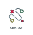abstract sign dotted line strategy goal vector image