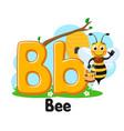 alphabet bee with bucket honey letter bb