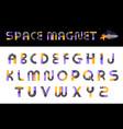 alphabet creative font letters set vector image vector image