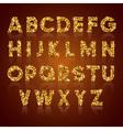 Alphabet golden vector image