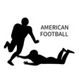american football player athlete silhouette vector image vector image