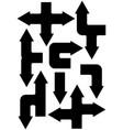 arrow set vector image vector image