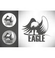 bald eagle in nest logo vector image