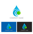 bio water drop abstract logo vector image vector image