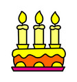birthday cake icon isolated on white background vector image vector image