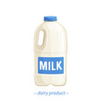 bootle milk vector image vector image