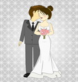 Bride and groom cartoon vector image vector image