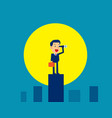 businessman looking and searching moonlight vector image