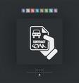 car contract icon vector image