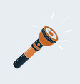 cartoon pocket flashlight torch on vector image vector image