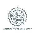 casino roulette luck line icon casino vector image