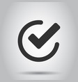 check mark icon in flat style ok accept on white vector image