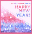 christmas and new year banner triangle style vector image vector image