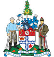 coat arms ottawa is one 13 provinces vector image vector image