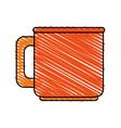 color crayon stripe image porcelain mug of vector image vector image