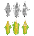 corn cartoon vector image vector image