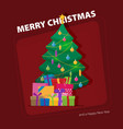 decorated christmas tree with gift boxes star vector image vector image