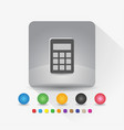digital calculator icon sign symbol app in gray vector image vector image