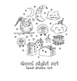 doodle set images about good night vector image vector image