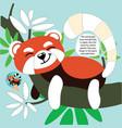 drawing game tutorial lemur printable template vector image vector image