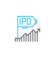 dynamics within ipo thin line stroke icon vector image