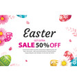 easter sale banner design template with colorful vector image vector image