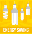 energy saving bulb concept background flat style vector image