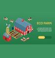 farm isometric web banner vector image