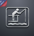 fishing icon symbol 3D style Trendy modern design vector image vector image