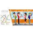flat public transport composition vector image vector image