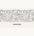 furniture banner concept vector image vector image
