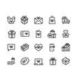 gift line icons discount offer bonus reward vector image