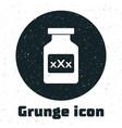 grunge medicine bottle with pills for potency
