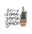 guilty cat in sitting in cactus pot with lettering vector image