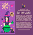 halloween witch letterhead template vector image vector image