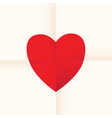 heart paper vector image vector image