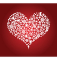 heart snowflakes vector image vector image