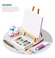 hobby crafts isometric composition vector image