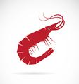 image an shrimp design vector image