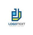 letter j paper logo design vector image vector image