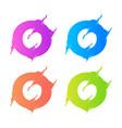 letter o logo template design vector image vector image