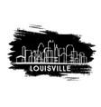 louisville kentucky usa city skyline silhouette vector image vector image