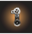 metal figure with gearwheels vector image vector image