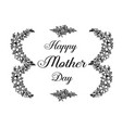 mother day greeting flower design vector image vector image
