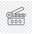 movie concept linear icon isolated on transparent vector image