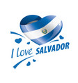 national flag salvador in shape a vector image vector image