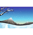 Nature scene during the snow time vector image vector image