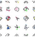 pattern of creative design icons vector image vector image