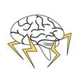pictogram brain vector image