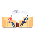 psychotherapy session vector image vector image